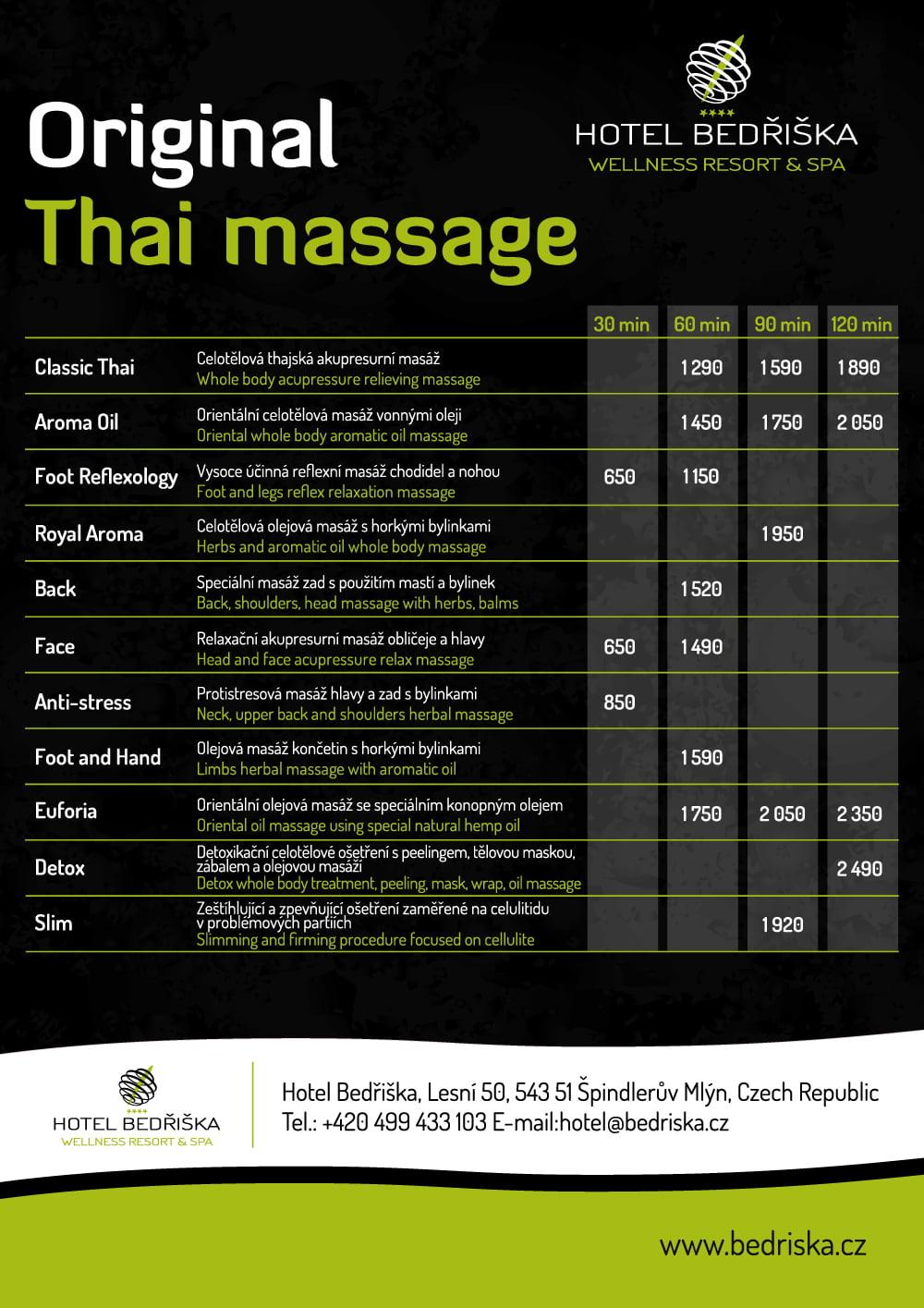 Thajské masáže Špindlerův Mlýn